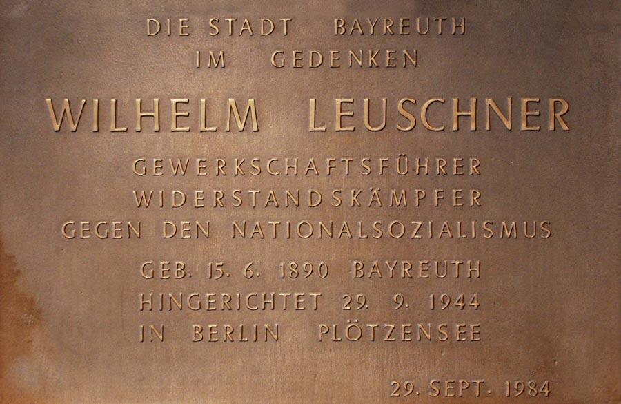 Wilhelm Leuschner Gedenktafel