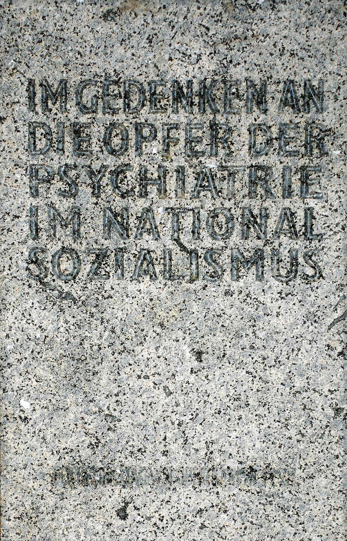 Gedenktafel für die Euthanasieopfer