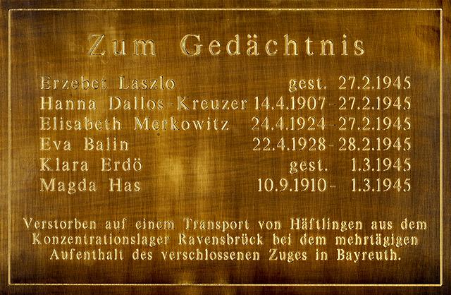 Gedenktafel für KZ-Opfer